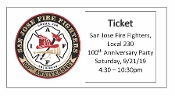 SJFF Local 230 Event Ticket Sales-100th Anniversary Party